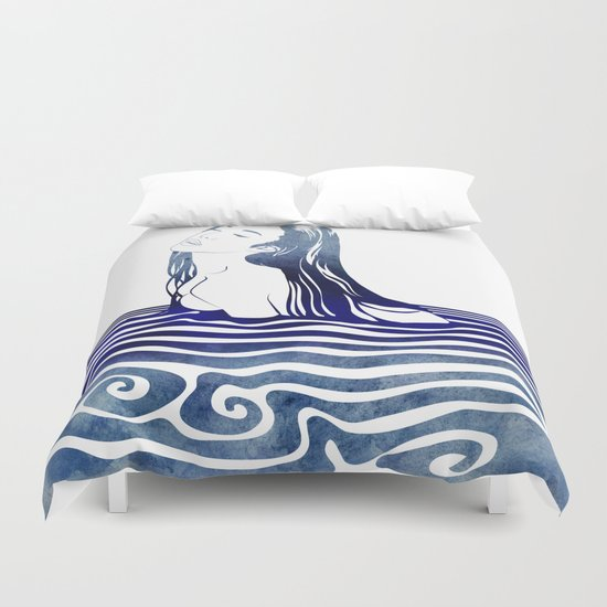 Water Nymph VIII Duvet Cover