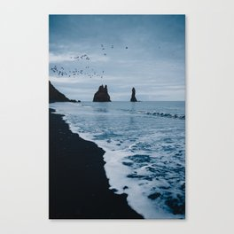 Iceland's Black Sand Beach Canvas Print
