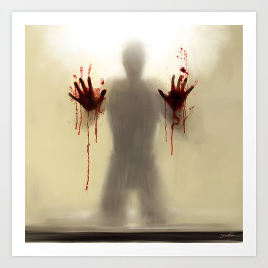 Beware to the shower....you are not alone! Art Print