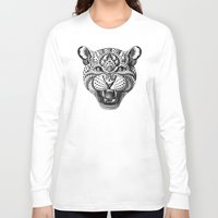 leopard Long Sleeve T-shirts featuring Leopard by BIOWORKZ