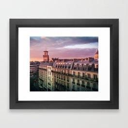 "Paris Urban Photography, ""Paris Sunset"" Large Art Print, Travel Wall Art, Living Room Fine Art Photo Framed Art Print"
