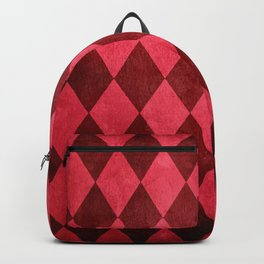 Ruby Harlequin Grunge Backpack