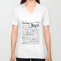 bible verse V-neck T-shirts featuring All The Days, Bible Verse Art by Kate Donovan