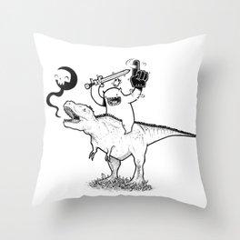 Dino&Dude Throw Pillow