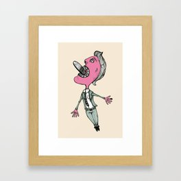 Swallow that pill. Framed Art Print