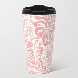 Marigold Lino Cut, Rose Pink Travel Mug