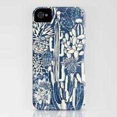 Indigo cacti Slim Case iPhone (4, 4s)
