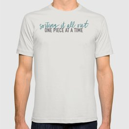 Sorting it out - Font Black/Green T-shirt