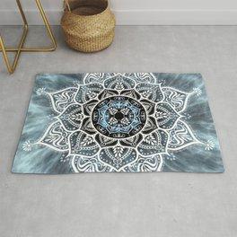 Mandala Nirvana Blue Spiritual Zen Bohemian Hippie Yoga Mantra Meditation Rug