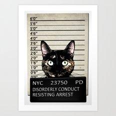 Kitty Mugshot Art Print