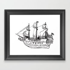 Ship Mercy Framed Art Print