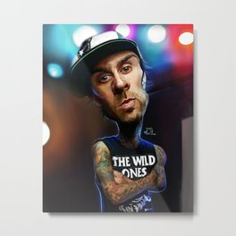 Travis Barker Caricature Painting Metal Print
