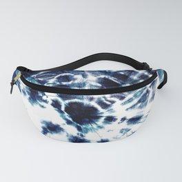 Tie Dye Sunburst Blue Fanny Pack