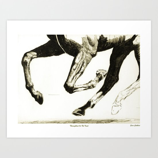 Thoroughbred on the Track Art Print