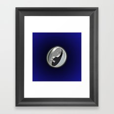 DOUBLE YIN AND YANG IN SPACE Framed Art Print