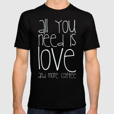 COFFEe Mens Fitted Tee Black MEDIUM