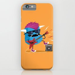 Monster punk rocks with his electric guitar iPhone Case