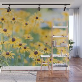 Sunny Disposition - Field of Wildflowers Photography Wall Mural