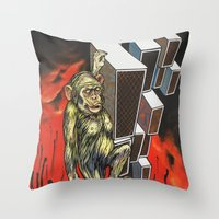 ape Throw Pillows featuring Ape by VikaValter