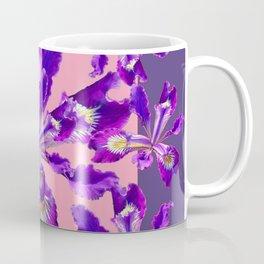 Decorative Pink Abstract Purple dutch  Iris Floral Garden Coffee Mug