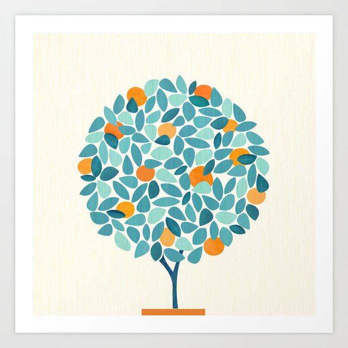 Tropical Mango Tree Art Print