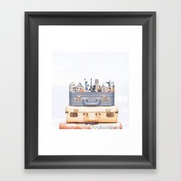 Travel Luggage Framed Art Print