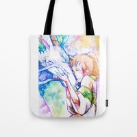 spirited away Tote Bags featuring Spirited Away by Vouschtein