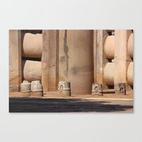 buddhism Canvas Prints featuring Buddhism ancient place in Sanchi by Four Hands Art