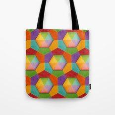 Geometric Rainbow (smaller scale) Tote Bag
