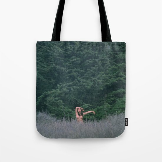 Blurry Greens Tote Bag