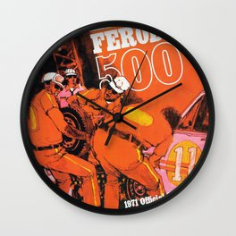 Vintage 1970s Australian Race Poster Wall Clock