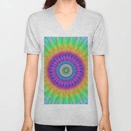Colorful explosion Unisex V-Neck