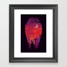 To The Grave Framed Art Print