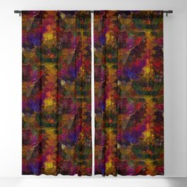 Stereo Trippin' Psychedelic Fractal Blackout Curtain