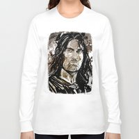 gondor Long Sleeve T-shirts featuring Aragorn by Patrick Scullin
