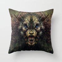 beast Throw Pillows featuring Beast by Zandonai