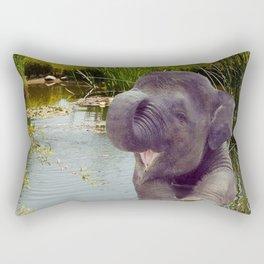 Elephant and Water Rectangular Pillow