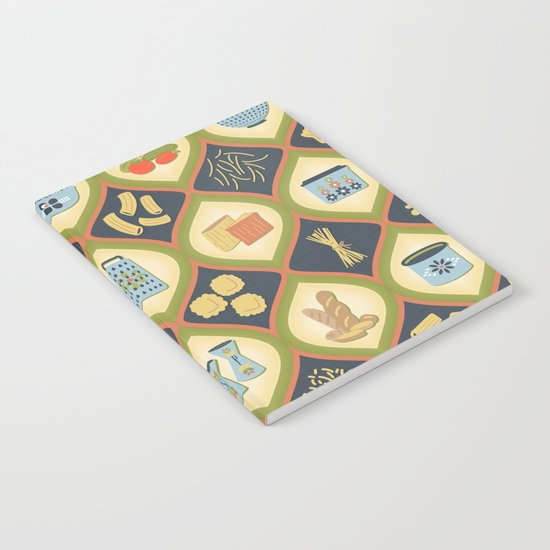 Pasta Fun Pattern Notebook
