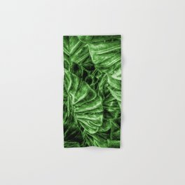 Painted Green Monstera palm leaves by Brian Vegas Hand & Bath Towel