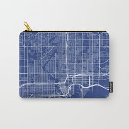 Tampa Map, USA - Blue Carry-All Pouch