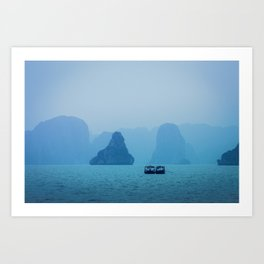 Ha Long Blues Art Print