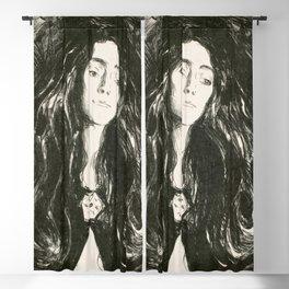 "Edvard Munch ""The Brooch. Eva Mudocci"", 1903 Blackout Curtain"