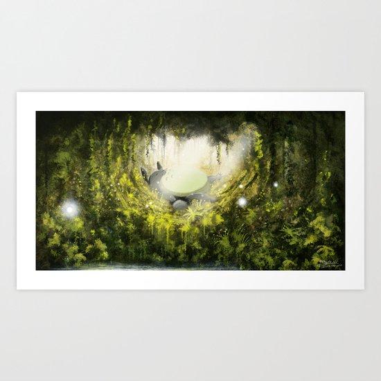 Totoro's Dream Art Print
