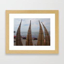 Huanchaco, Peru Framed Art Print
