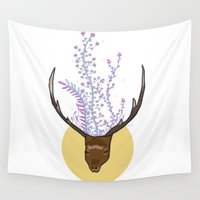 stag Wall Tapestries featuring stag by Madi Moon