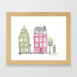 Stockholm houses Framed Art Print