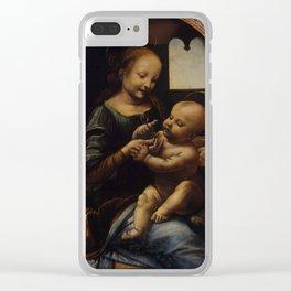 "Leonardo da Vinci ""Madonna and the Child (The Benois Madonna)"" Clear iPhone Case"