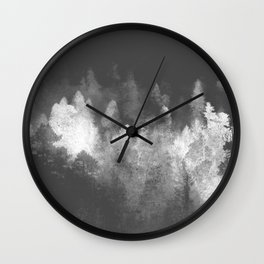 Chromatic Forest Nature Photography Wall Clock