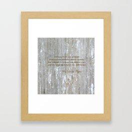 SERENITY PRAYER: BROWN BARN Framed Art Print