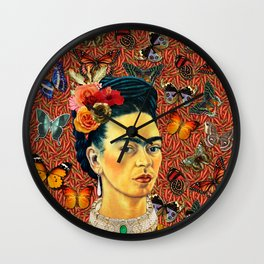 FRIDA bUTTERFLYS Wall Clock